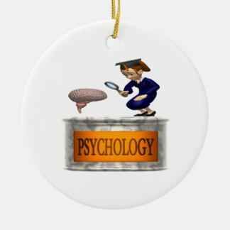Psychology Double-Sided Ceramic Round Christmas Ornament