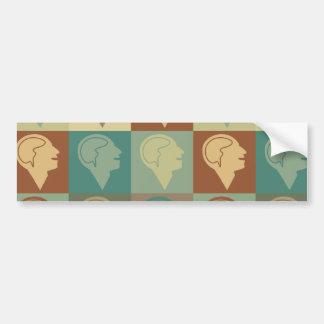 Psychology Pop Art Bumper Sticker
