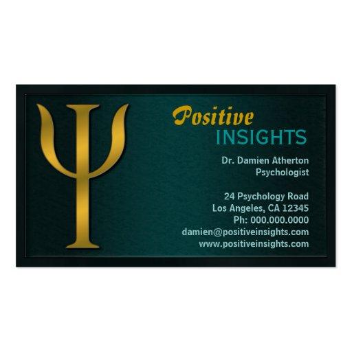 Psychology Psychologist Psychiatry Business Cards