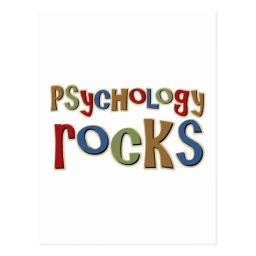 Psychology Rocks Postcard