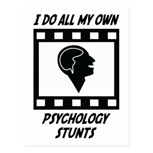 Psychology Stunts Post Cards