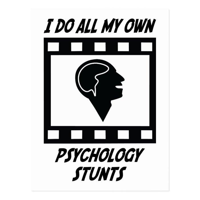 Psychology Stunts Postcard