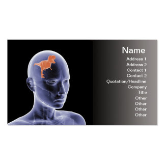 Psychology - the reptile mind business card templates