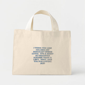Psychology: the study of people who are paranoid mini tote bag