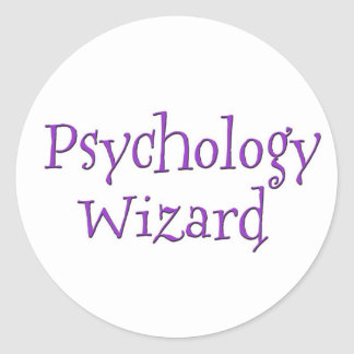 Psychology Wizard Classic Round Sticker
