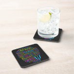 PSYCHOLOGY Word Cloud coasters