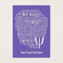 PSYCHOLOGY Word Cloud custom color business cards