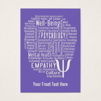 PSYCHOLOGY Word Cloud custom color business cards