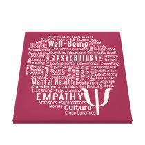 PSYCHOLOGY Word Cloud custom color canvas print