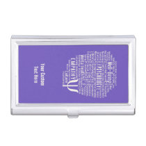 PSYCHOLOGY Word Cloud custom color card holder