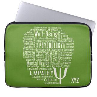 PSYCHOLOGY Word Cloud custom color laptop sleeves