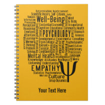 PSYCHOLOGY Word Cloud custom color notebook