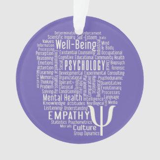 PSYCHOLOGY Word Cloud custom color ornament