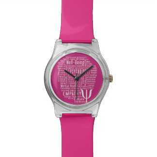 PSYCHOLOGY Word Cloud custom color watches