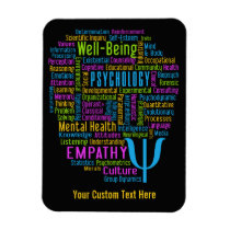 PSYCHOLOGY Word Cloud custom magnet