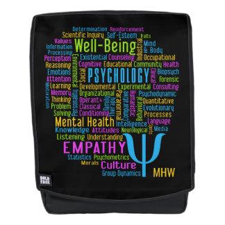 PSYCHOLOGY Word Cloud custom monogram backpack