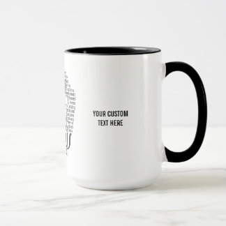 PSYCHOLOGY Word Cloud custom mugs