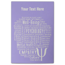 PSYCHOLOGY Word Cloud custom Post-It notes