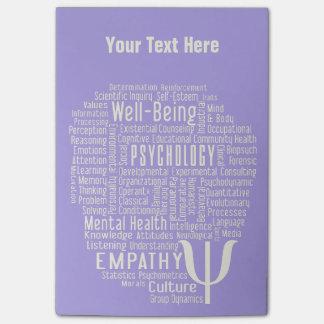 PSYCHOLOGY Word Cloud custom Post-It notes