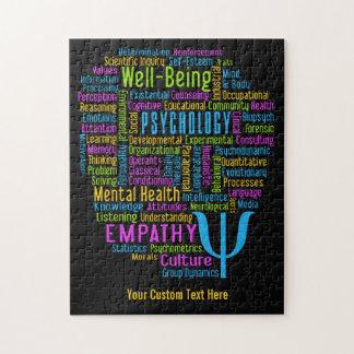 PSYCHOLOGY Word Cloud custom puzzle