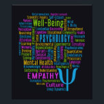 """PSYCHOLOGY Word Cloud poster<br><div class=""""desc"""">Using the &quot;customize it&quot; function,  you can change (edit) the background color of this item and add your own text if you wish. See my store for more items with this design.</div>"""