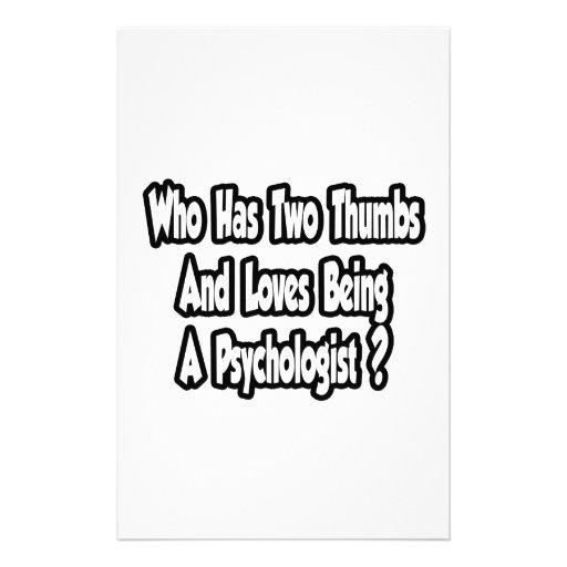 Psychololgist Joke...Two Thumbs Custom Stationery