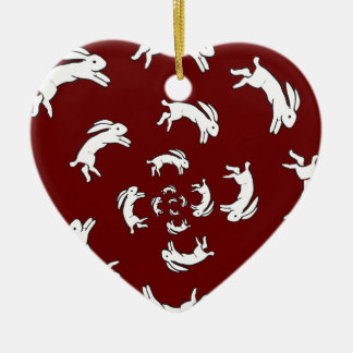 PSYCHOSIS Double-Sided HEART CERAMIC CHRISTMAS ORNAMENT