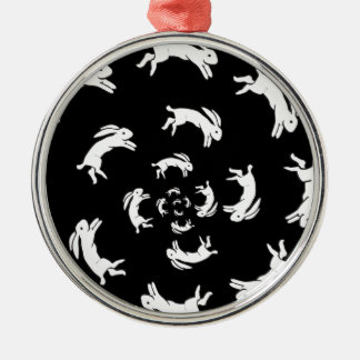 PSYCHOSIS ROUND METAL CHRISTMAS ORNAMENT