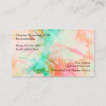 Psychotherapist And Counseling Services Business Card