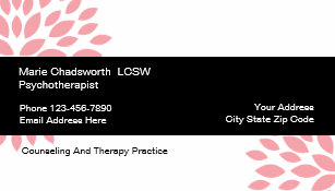 Psychotherapy business cards templates zazzle psychotherapist counseling design business card colourmoves
