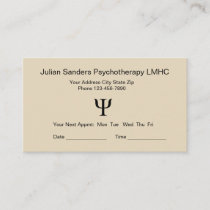 Psychotherapy Office Appointment Reminder Cards