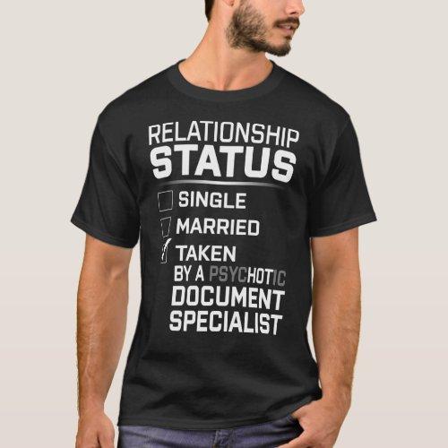 PsYCHOTIC Document Specialist T_Shirt