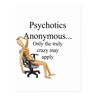 Psychotics Postcard