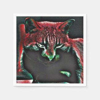 Psycodelic Cat Napkin