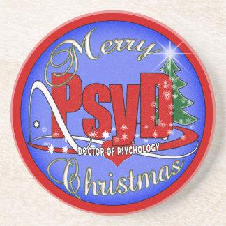 PsyD CHRISTMAS ORNAMENT DOCTOR OF PSYCHOLOGY Coaster