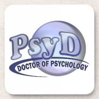 PsyD Doctor of Psychology LOGO Beverage Coaster