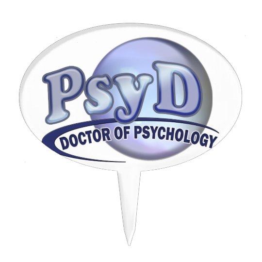 PsyD Doctor of Psychology LOGO Cake Topper
