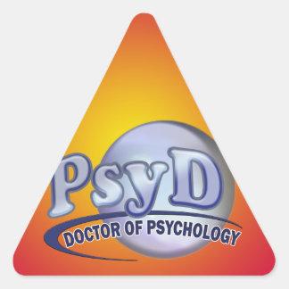 PsyD Doctor of Psychology LOGO Triangle Sticker