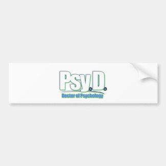 PsyD LOGO2 DOCTOR OF PSYCHOLOGY Bumper Sticker