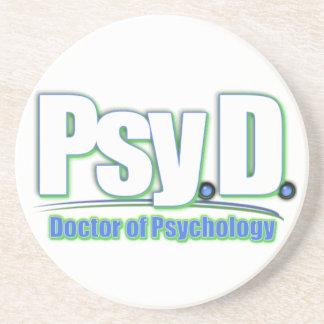 PsyD LOGO2 DOCTOR OF PSYCHOLOGY Coaster