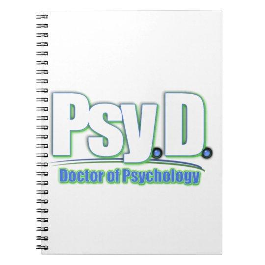 PsyD LOGO2 DOCTOR OF PSYCHOLOGY Notebook