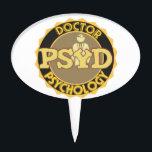 """PsyD LOGO DOCTOR OF PSYCHOLOGY PSYCHOLOGIST Cake Topper<br><div class=""""desc"""">PsyD LOGO DOCTOR OF PSYCHOLOGY PSYCHOLOGIST</div>"""