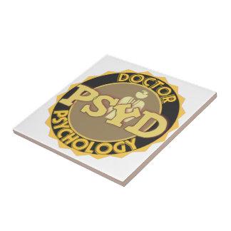 PsyD LOGO DOCTOR OF PSYCHOLOGY PSYCHOLOGIST Ceramic Tile