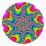 Psykedelica - Fractal Classic Round Sticker