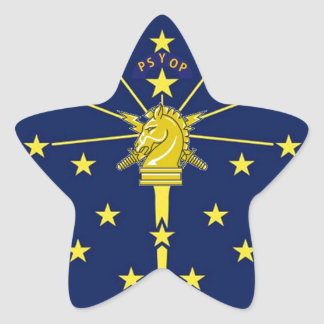 PSYOP Indiana Star Sticker