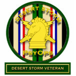 PsyOps - veterano de tormenta de desierto Escultura Fotográfica