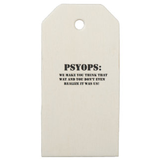 PSYOPS WOODEN GIFT TAGS