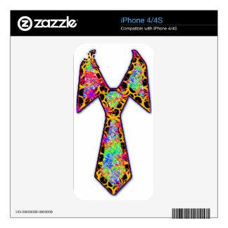 PsyTie - Psychedelic Tie iPhone 4S Decal