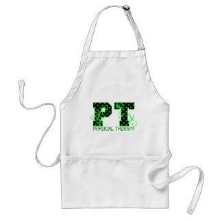 pt 2 black and green polka dots adult apron