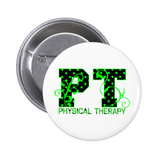 pt 2 black and green polka dots pin